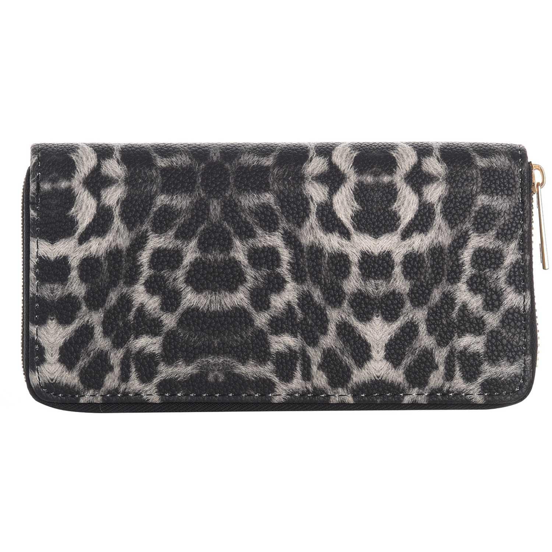 Billetera de Mujer Platanitos Leopardo / Negro 18wwxx8065
