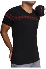 ROCK & RELIGION Negro / rojo de Hombre modelo grunge Casual Polos