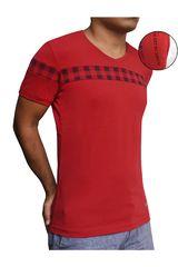 ROCK & RELIGION Rojo / negro de Hombre modelo grunge Casual Polos