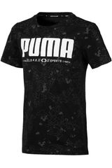 Polo de Jovencito Puma active sports aop tee b Negro / blanco