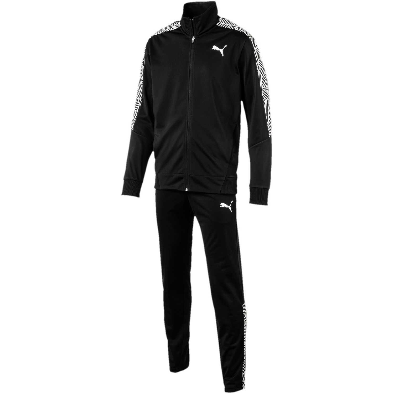 Buzo de Hombre Puma Negro / blanco graphic tricot suit op