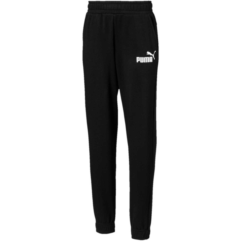 Pantalón de Jovencito Puma Negro / blanco ess logo sweat pants tr cl b