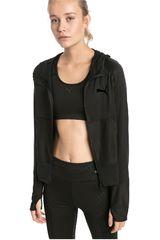 Puma Negro de Mujer modelo knockout jacket Casacas Deportivo