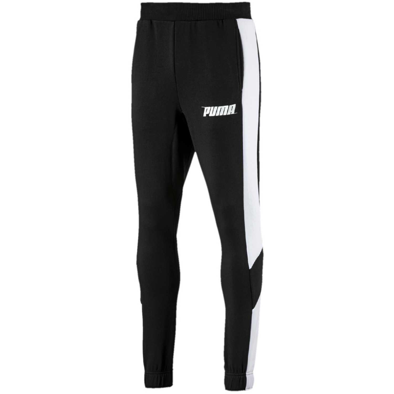 f8e363799 Pantalón de Hombre Puma Negro   blanco rebel pants tr cl ...