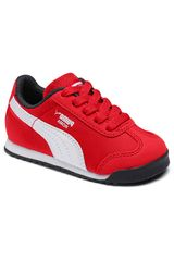 Puma Rojo / blanco de Niño modelo roma basic summer inf Walking Zapatillas casual Casual Deportivo Urban Zapatillas