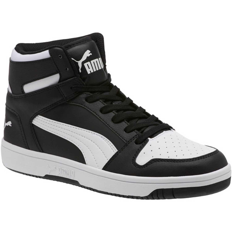 Zapatilla de Hombre Puma Negro / blanco puma rebound layup sl