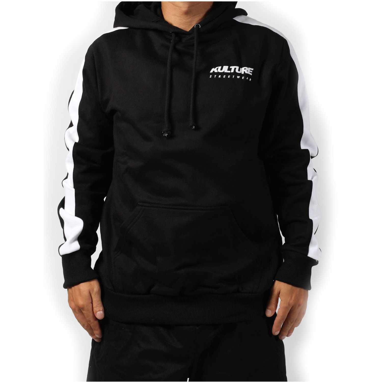 Polera de Hombre Kulture Negro snake road hoodie