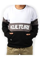 Kulture Negro / plomo de Hombre modelo city striped pullover Poleras Casual