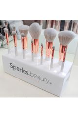 Sparks Beauty Blanco de Mujer modelo white deluxe brush set Brocha de Rostro Set rostro Cara Brochas