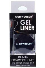 City Color Negro de Mujer modelo black gel liner Ojos Cara Delineadores