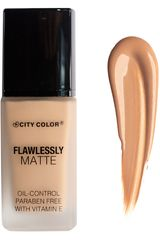 City Color Latte de Mujer modelo flawlessly matte foundation Maquillaje Base líquida