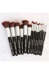 City Color Negro de Mujer modelo photochic 15 pc brush set rostro Brochas Set Cara Brocha de Rostro