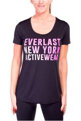 Everlast Negro / fucsia de Mujer modelo t-shirt squad Polos Deportivo