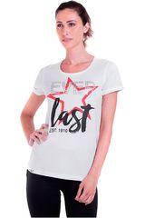 Everlast Blanco / rojo de Mujer modelo t-shirt top Polos Deportivo