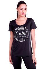 Everlast Negro / blanco de Mujer modelo t-shirt soho Polos Deportivo