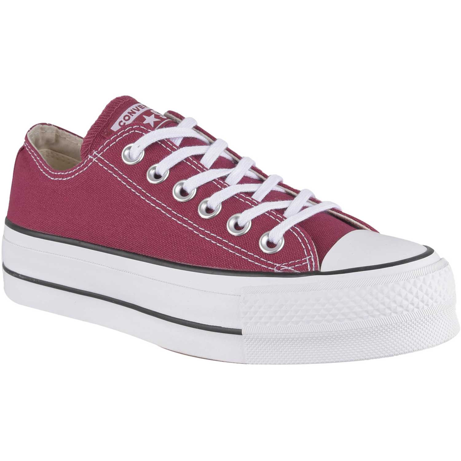 7b8636bdbff Zapatilla de Jovencita Converse Guinda chuck taylor all star lift seasonal  ox
