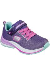 Skechers Morado de Niña modelo double strides - duo dash Casual Deportivo Urban Walking Zapatillas