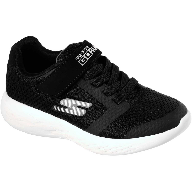 Zapatilla de Niño Skechers Negro go run 600 - roxlo