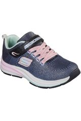 Zapatilla de Niña Skechers Azul double strides - duo dash