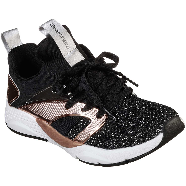 Zapatilla de Niña Skechers Negro shine status