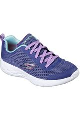 Zapatilla de Niña Skechers Morado go run 600 - fun run