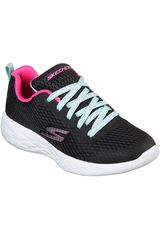 Skechers Negro de Niña modelo go run 600 - fun run Zapatillas Deportivo Walking Casual Urban