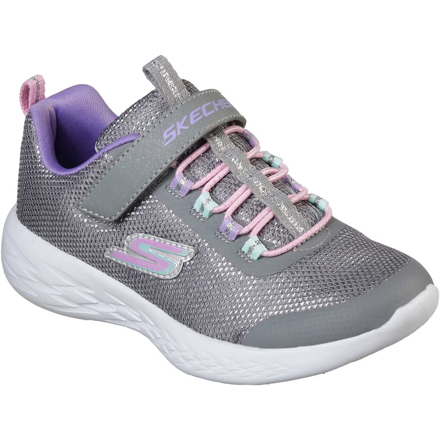 Zapatilla de Niña Skechers Gris go run 600 - sparkle runner