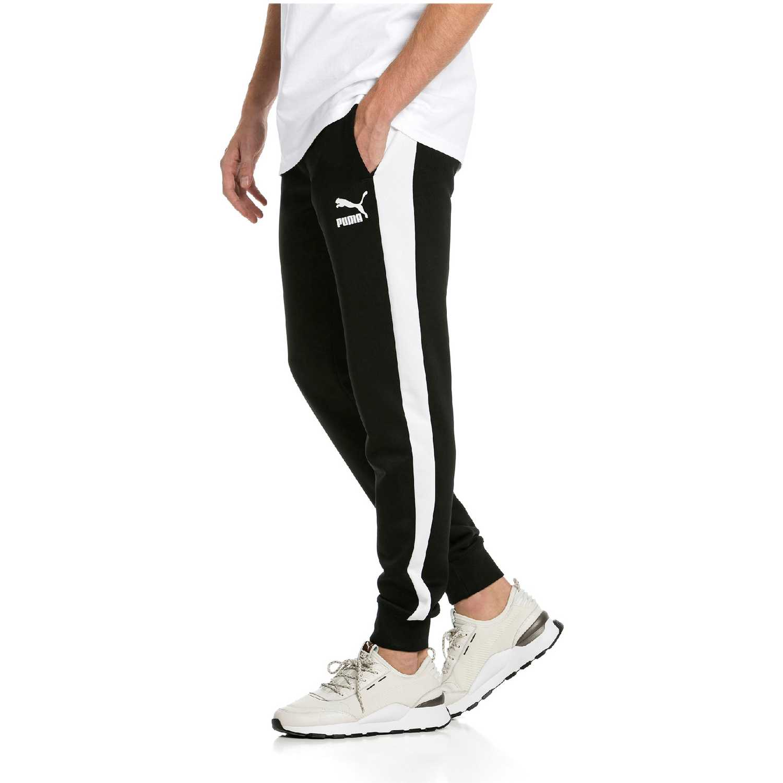 52ccd2dbe Pantalón de Hombre Puma Negro   blanco iconic t7 track pants pt ...