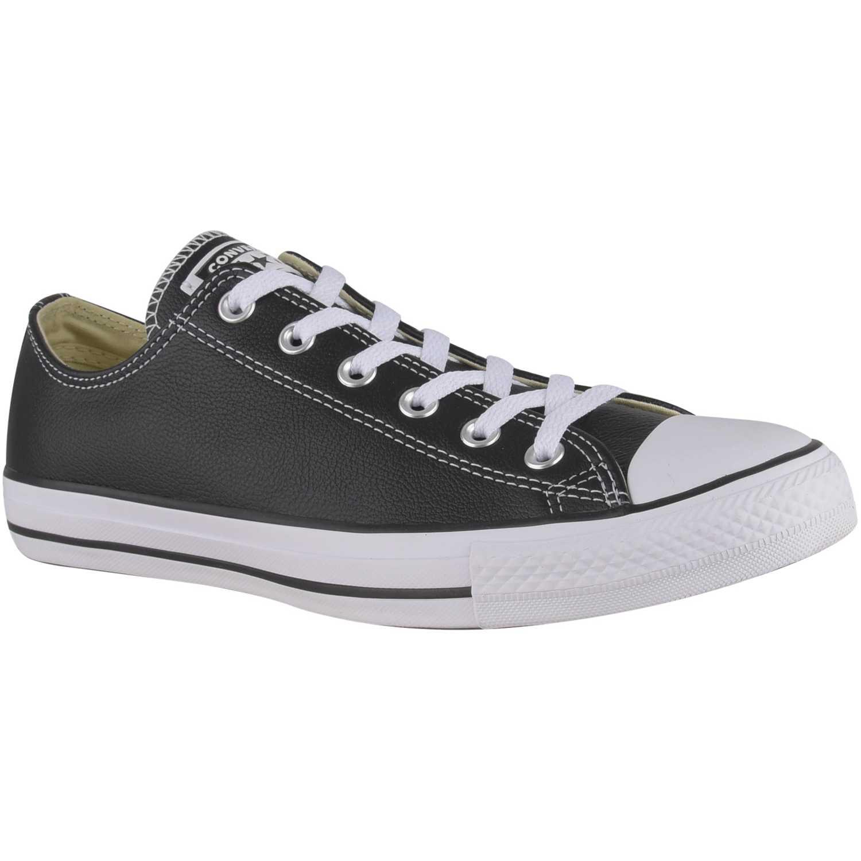 Zapatilla de Hombre Converse Negro / blanco ctas leather ox
