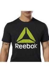 Polo de Hombre Reebok Negro qqr- reebok stacked