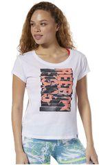 Reebok Blanco de Mujer modelo gs reebok letterpress Polos Deportivo