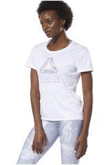 Reebok Blanco de Mujer modelo re delta graphic tee Deportivo Polos