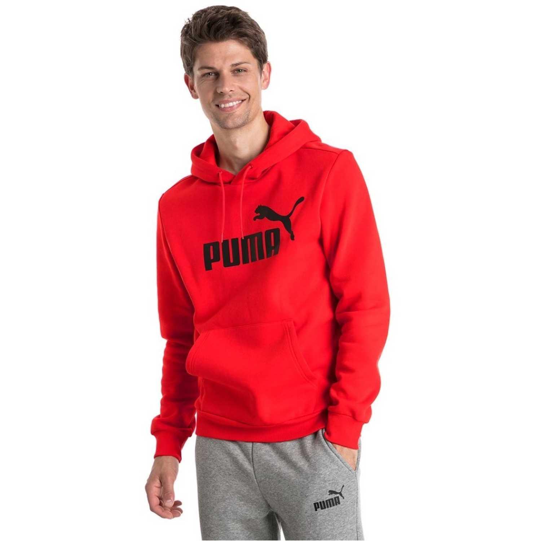 c16c9382c Polera de Hombre Puma Rojo / negro ess hoody fl big logo ...