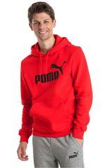 Polera de Hombre Puma Rojo / negro ess hoody fl big logo