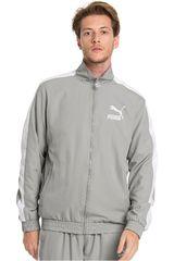 Casaca de Hombre Puma Gris / blanco iconic t7 track jacket woven