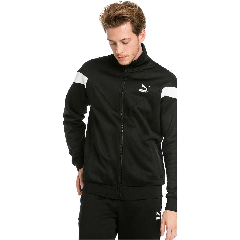 Casaca de Hombre Puma Negro / blanco iconic mcs track jacket