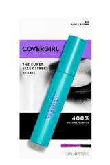 Covergirl Black Brown de Mujer modelo máscara super sizer fibers Mascara de pestaña Ojos