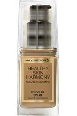 Base Líquida de Mujer Max Factor Bronze base de maquillaje healthy skin harmony miracle