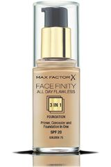 Base Líquida de Mujer Max Factorbase facefinity all day flawless 3 en 1 Golden