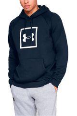 Under Armour Navy de Hombre modelo rival fleece logo hoodie-nvy Poleras Deportivo
