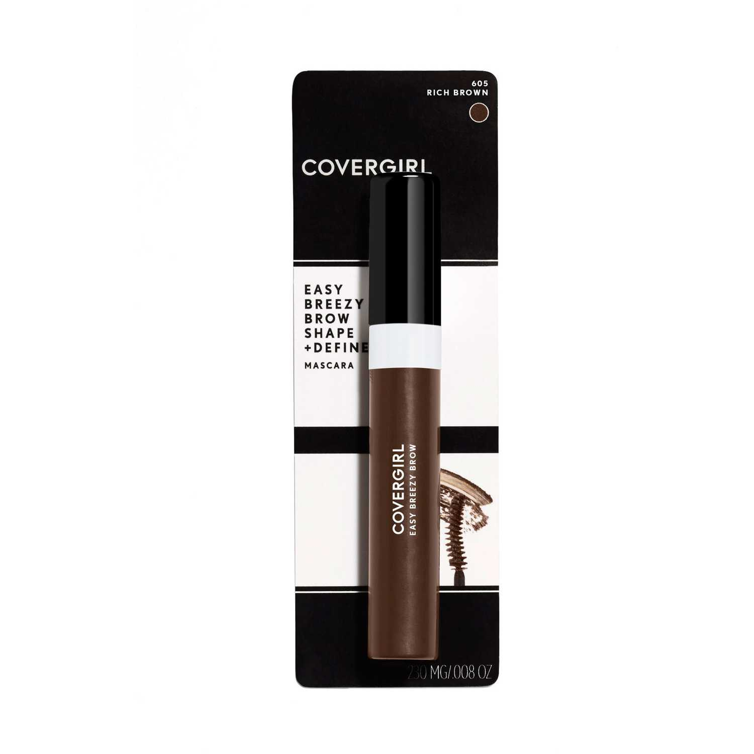 Máscara para cejas  Covergirl Rich Brown brow shape&define brow mascara