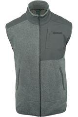 Chaleco de Hombre Merrell Plomo flux mw hybrid vest (polar fleece - solid)