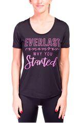 Everlast Negro / fucsia de Mujer modelo t-shirt get Polos Deportivo