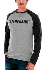 CAT Negro /gris de Hombre modelo design mark baseball tee Casacas Casual