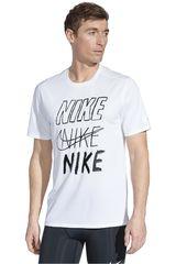 Polo de Hombre Nike Blanco m nk brthe run top ss gx