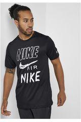 Polo de Hombre Nike Negro m nk brthe run top ss gx
