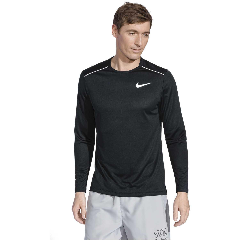 Polo manga larga de Hombre Nike Negro m nk dry miler top ls