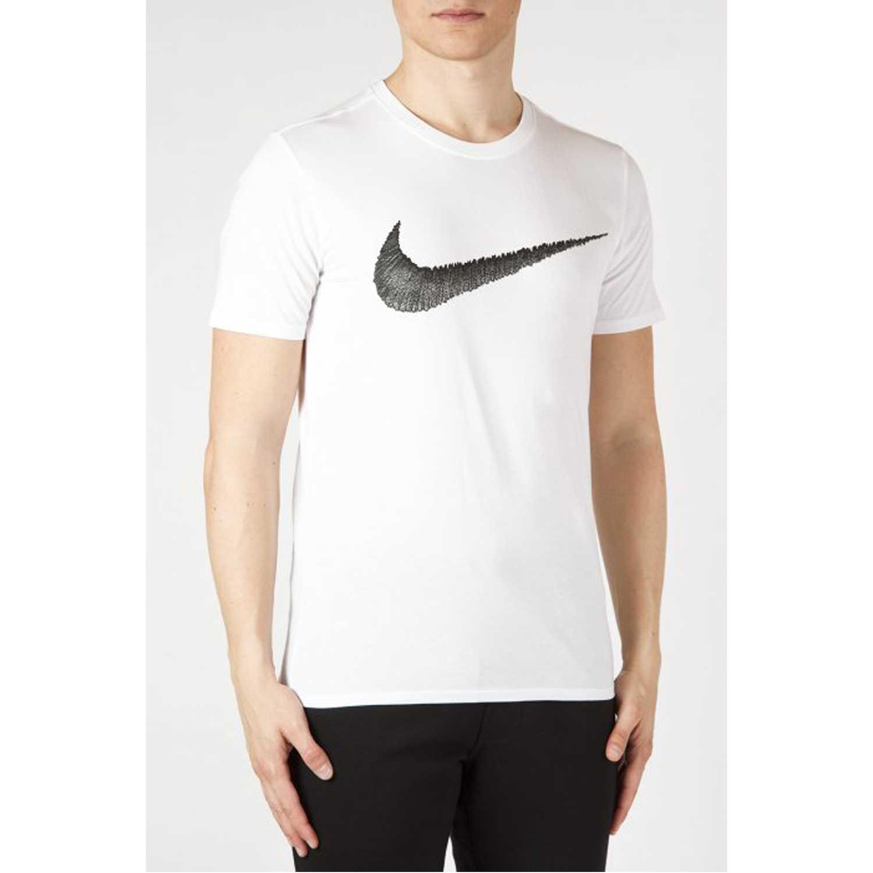 Polo de Hombre Nike Blanco m nsw tee hangtag swoosh