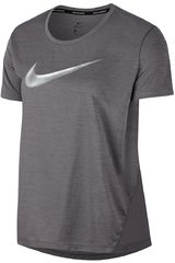 Nike Plomo de Mujer modelo w nk miler top ss hbr1 Camisetas Deportivo