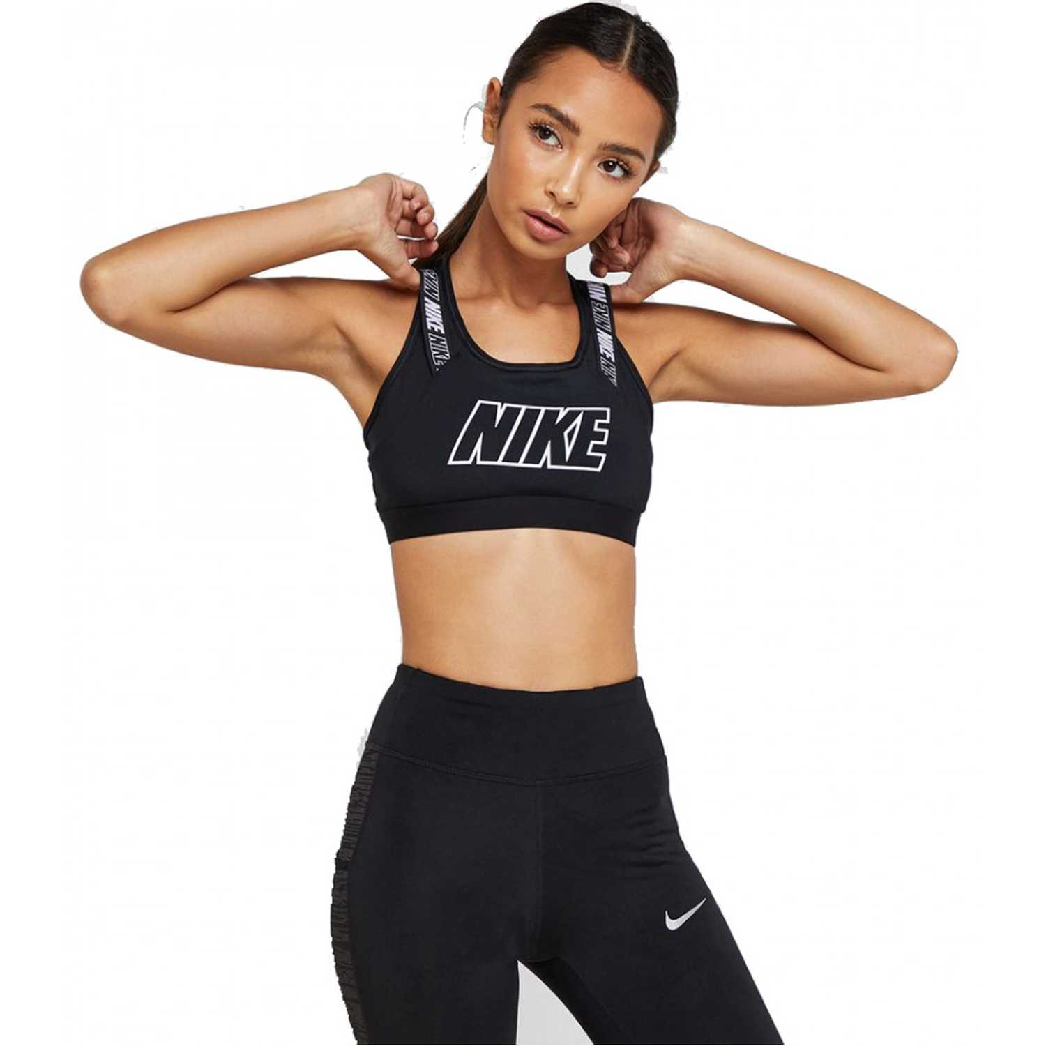 Top de Mujer Nike Negro / blanco nike vcty comp hbr bra